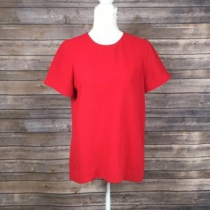 Madewell Red Short Sleeved Blouse